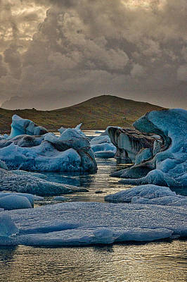 Photograph - Icebergs In Glacier Lagoon #8 - Iceland by Stuart Litoff