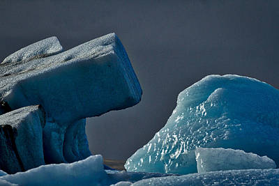 Photograph - Icebergs In The Late Afternoon #2 - Iceland by Stuart Litoff