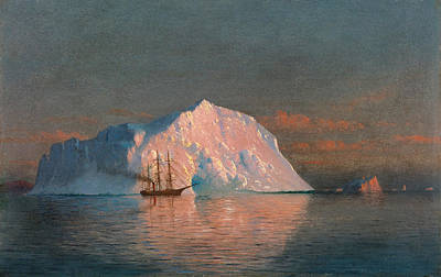 Painting - Icebergs. Labrador by William Bradford