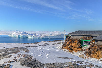 Turf Photograph - Icebergs With Turf House In Ilulissat- Greenland by Joana Kruse