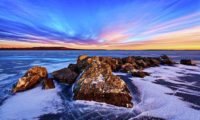 Downeast Maine Photograph - Icebound 2 by ABeautifulSky Photography by Bill Caldwell