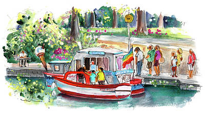 Painting - Icecream Boat In York by Miki De Goodaboom