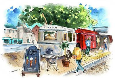 Painting - Icecream Van In York 01 by Miki De Goodaboom