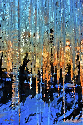 Icicles At Sunrise Art Print
