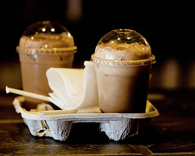Iced Caramel Coffee Art Print