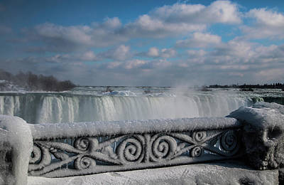 Photograph - iced fencing - Niagara by Perggals - Stacey Turner