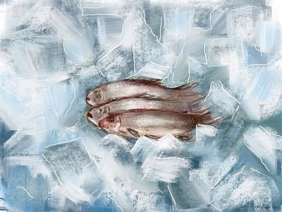 Painting - Iced Fish by Miroslaw  Chelchowski