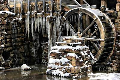 Photograph - Iced Over Grist Mill by Benanne Stiens