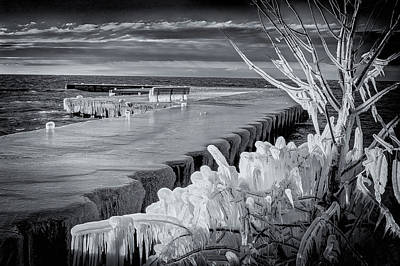 Photograph - Iced Pier by David Heilman