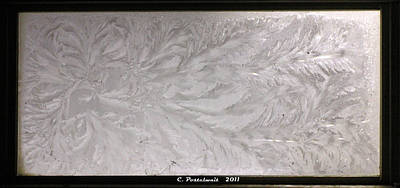 Iced Window Art Print