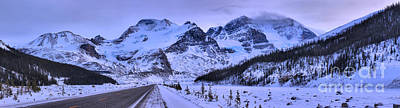 Photograph - Icefields Parkway Athabasca Glacier by Adam Jewell
