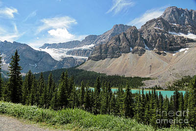 Photograph - Icefields Parkway With Glacier by Carol Groenen