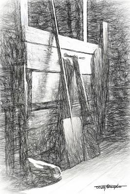 Drawing - Iceland Barn Still Life Study by Wally Hampton