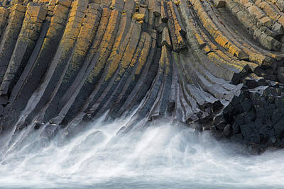 Photograph - Iceland Basalt Columns by Arterra Picture Library