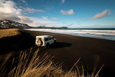 Iceland Black Sand Beach Art Print by Larry Marshall