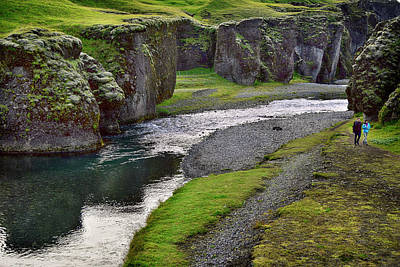 Photograph - Iceland Canyon Walk by Dave Dilli
