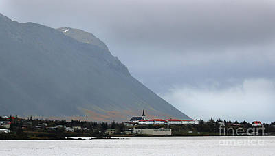 Photograph - Iceland Church And Mountains 6260 by Jack Schultz