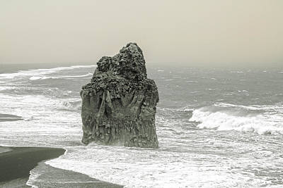 Beach Action Wall Art - Photograph - Iceland Dust Storm Dyholaey  by Betsy Knapp