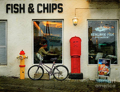 Photograph - Iceland Fish And Chips Bicycle by Craig J Satterlee