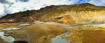 Landscapes Photograph - Iceland Geothermal Area Krysuvik Panorama by Matthias Hauser