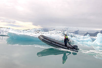 Photograph - Iceland Glacier Lagoon by Ambika Jhunjhunwala