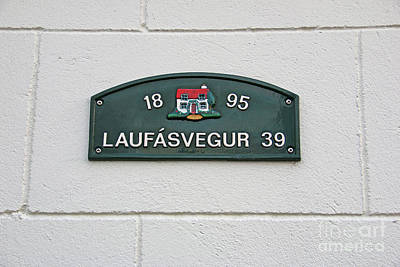 Photograph - Iceland House Address Sign  7216 by Jack Schultz