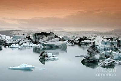 Photograph - Iceland, Jokulsarlon Glacial Lagoon , Icebergs Melting by Juergen Held