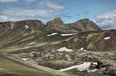 Photograph - Iceland Landscape 4, Landmannakaugar Area  - 1556,hs by Wally Hampton