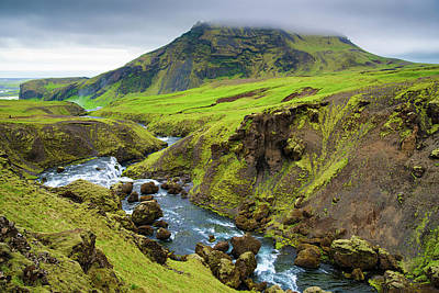 Green And Brown Photograph - Iceland Landscape Green And Brown by Matthias Hauser