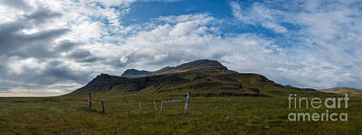 Surrealism Royalty Free Images - Iceland Landscape Panorama Royalty-Free Image by Michael Ver Sprill