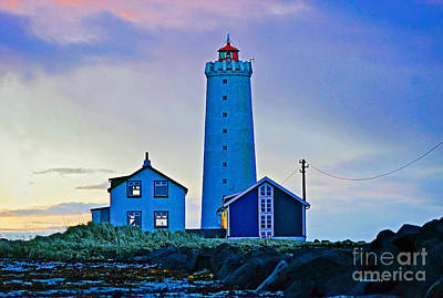 Photograph - Iceland Lighthouse by Michael Cinnamond