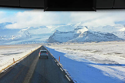 Photograph - Iceland Looking Out The Bus Window Roads, Mountains, Sky Iceland 2 2192018 2027.jpg by David Frederick