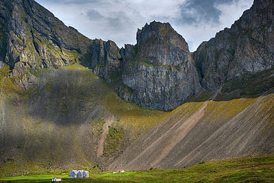 Photograph - Iceland Mountains And Cliff by Dave Dilli