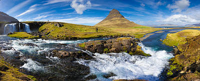 Photograph - Iceland Panorama Kirkjufell Waterfall by Matthias Hauser