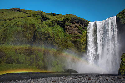 Photograph - Iceland Rainbow Skogafoss Waterfall by Dave Dilli