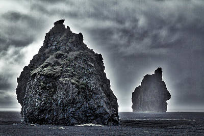 2 Solitudes Photograph - Iceland Rock Formations by Stuart Litoff