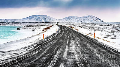 Photograph - Iceland Snowy Landscape  by Anna Om