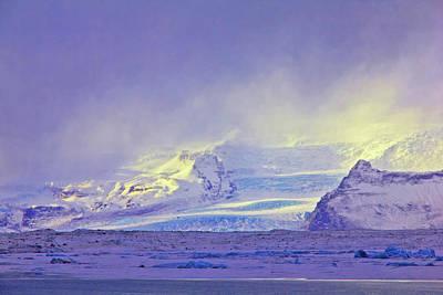 Photograph - Iceland Sunrise Glacier Lava Field Sunrise Mountains Clouds Iceland 2 2122018 1882.jpg by David Frederick