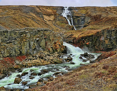 Photograph - Iceland Waterfall # 1 by Allen Beatty
