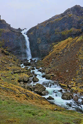 Photograph - Iceland Waterfall # 2 by Allen Beatty