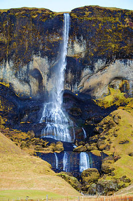 Photograph - Iceland Waterfall 1 by Deborah Smolinske