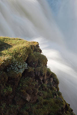 Photograph - Iceland Waterfall Closeup by Jack Nevitt