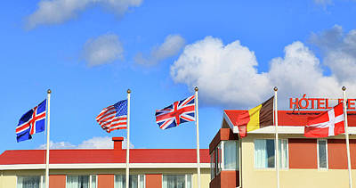 Photograph - Iceland Welcome Flags by Allen Beatty