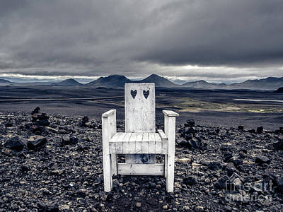 Photograph - Iceland White Chair Wide by Edward Fielding