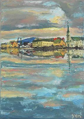 Painting - Icelandic 9 - Serene by Yen