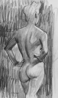 Drawing - Icelandic Blonde From The Back by Robert Holden