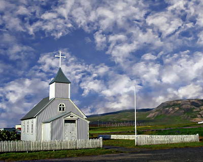 Photograph - Icelandic Church Scene by Anthony Dezenzio