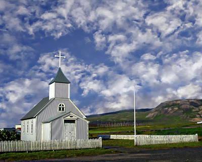 Photograph - Icelandic Church Scene by Anthony Dezenzio