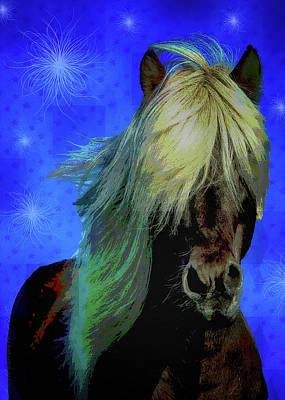 Digital Art - Icelandic Horse by Mimulux patricia No