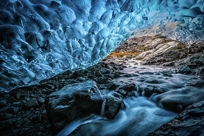 Photograph - Icelandic Ice Cave by Andres Leon